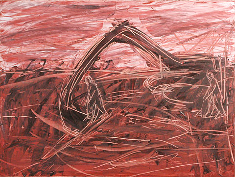Construction I, 2006, oil on canvas, 135×180 cm