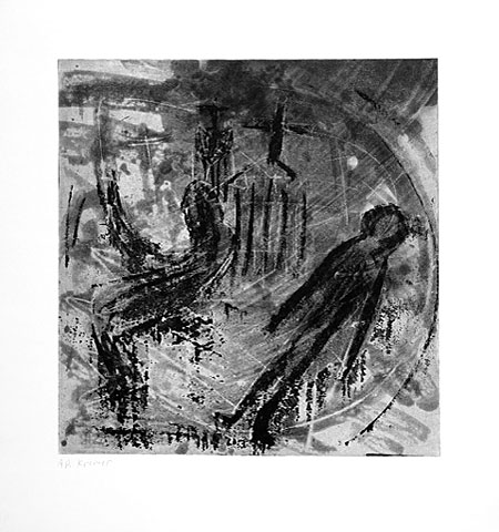 Drunk Painter IV, 2005, etching, 53×50 cm, edition of 12