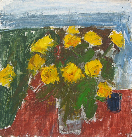 Flowers I, 2001, oil on canvas, 29×28 cm