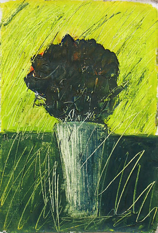 Flowers II, 2001, oil on canvas, 36×25 cm