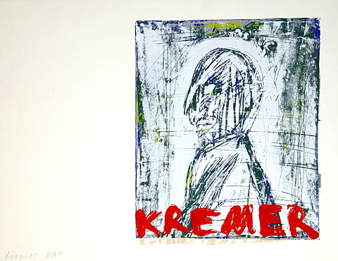 Kremer, 2001, screenprint, 50×65 cm, edition of 30
