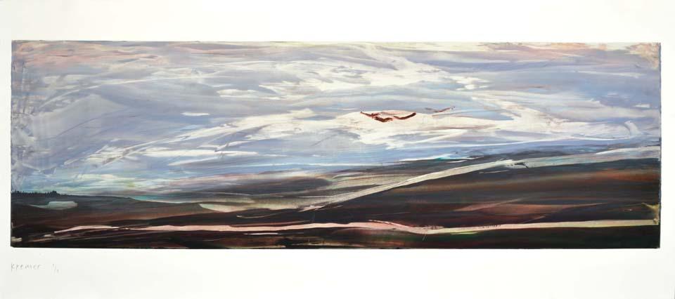 Landscape, 2012,monotype,58x125cm