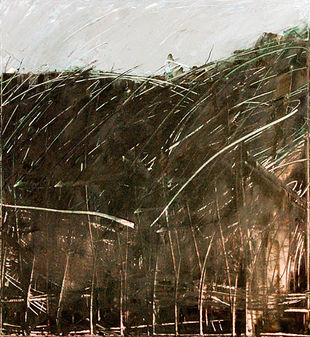 Landscape I, 2006, oil on canvas, 130×120 cm