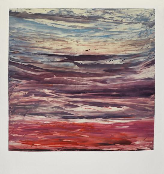 Landscape IV, 2012,monotype, 135×116 cm
