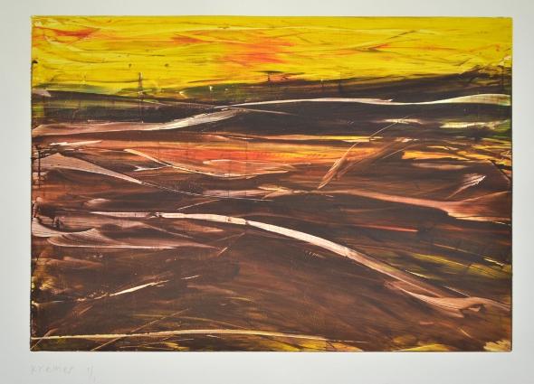 Landscape IX, 2012, monotype, 50×60 cm