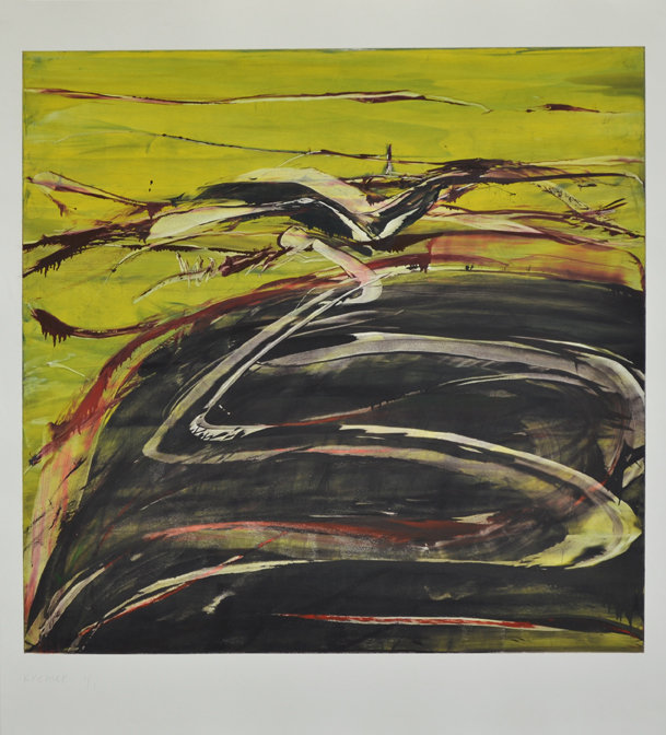 Landscape VI, 2012,monotype, 135×116 cm