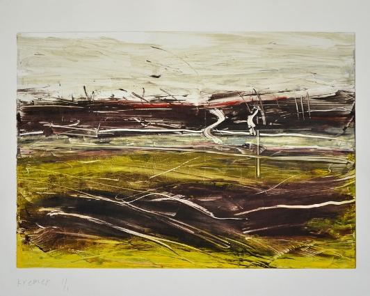 Landscape VII, 2012, monotype, 50×65 cm
