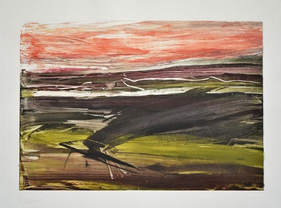 Landscape VIII, 2012, monotype, 50×65 cm