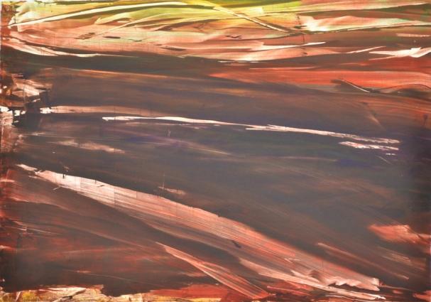 Landscape X, 2012, monotype, 50×60 cm