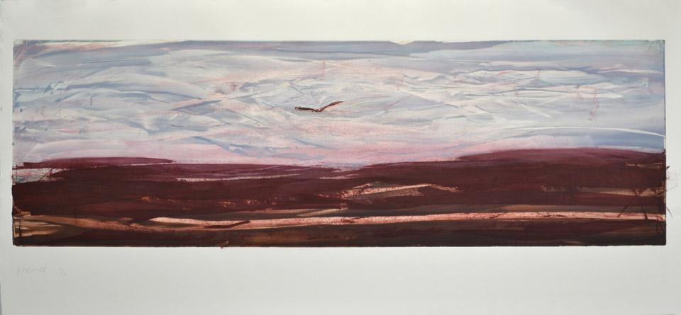 Landscape XI, 2012, monotype, 58×125 cm