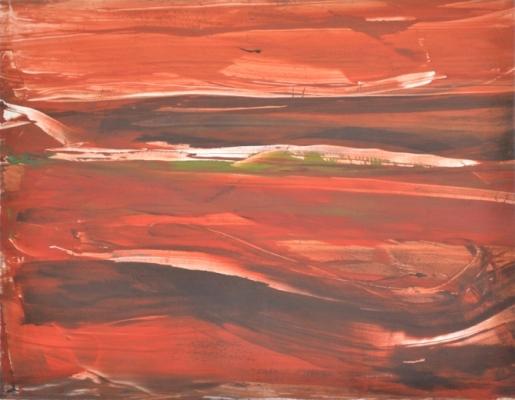 Landscape XIII, 2012, monotype, 50×60 cm