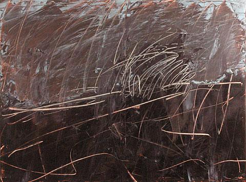 Landscape after Rembrandt I, 2006, oil on canvas, 135×180 cm
