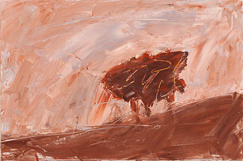 Landscape after Rembrandt III, 2006, oil on canvas, 40×60 cm