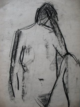 Nude I, 2009, charcoal on paper, 45×35 cm