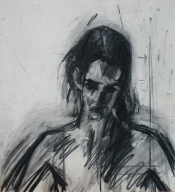 Nude II, 2009, charcoal on paper, 40×30 cm