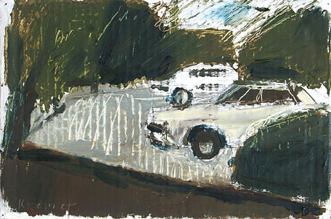 Parking, 2003, oil on cardboard, 21×31 cm