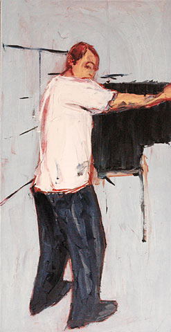 Piano, 2006, oil on canvas, 180×93 cm