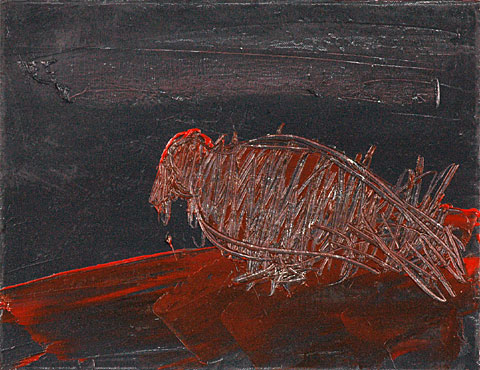 Pigeon, 2006, oil on canvas, 35×45 cm