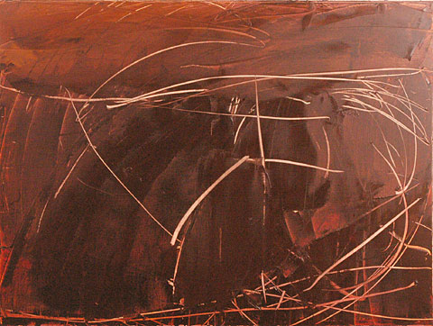 Primordial Landscape, 2006, oil on canvas, 135×180 cm