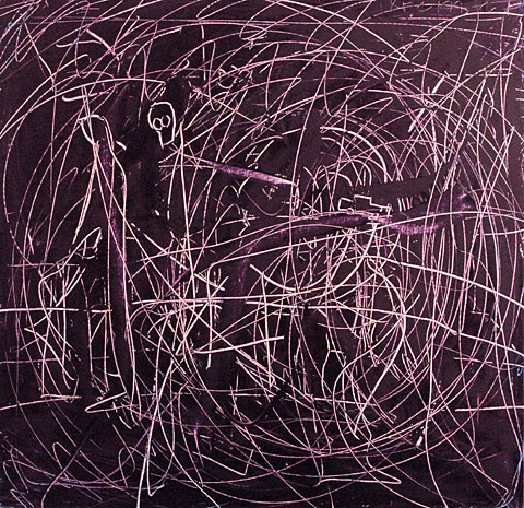 Purple Labyrinth, 2002, oil on canvas, 150×155 cm