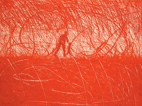 Red, 2001, etching, 57×76 cm, edition of 50