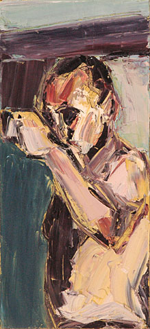 Self Portrait I, 2004, oil on canvas, 55×25 cm