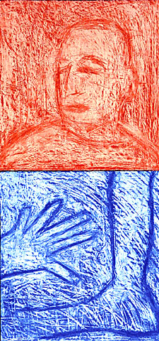 Self Portrait V (Diptych), 2001, etching, 80×38 cm, edition of 12