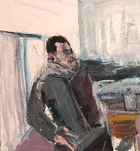 Studio II, 2005, oil on canvas, 130×120 cm