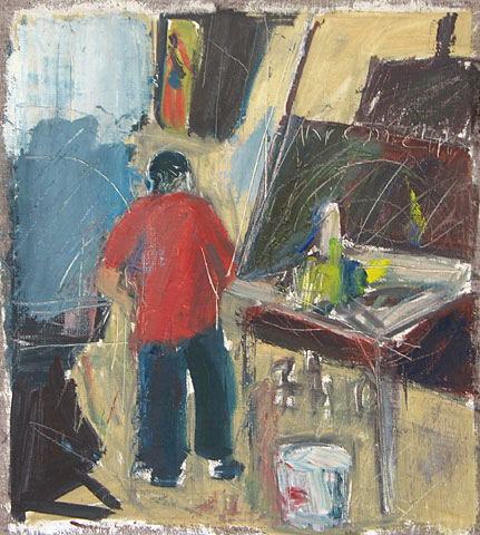 Studio V, 2003, oil on canvas, 35×32 cm