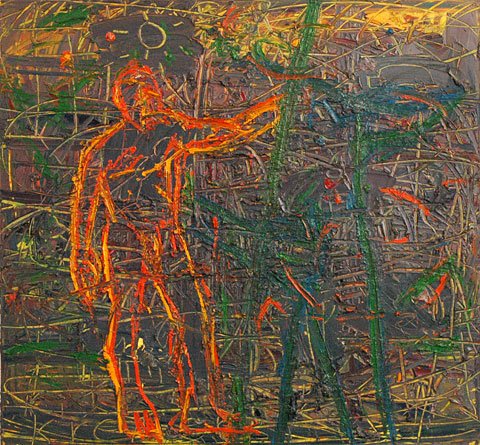 Studio VIII, 2003, oil on canvas, 140×150 cm