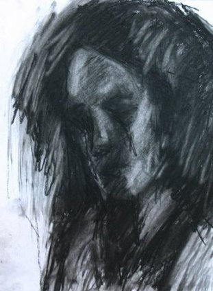 Tirza, 2011, charcoal on paper, 40×30 cm