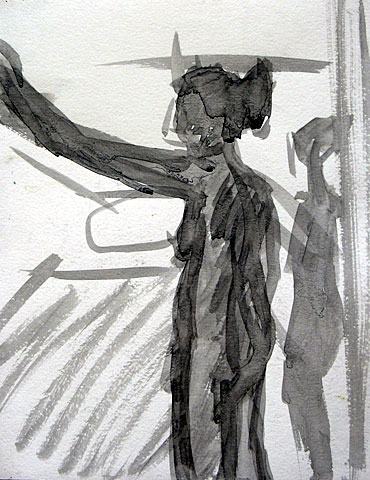Tirza I, 2003, charcoal on paper, 37×28 cm