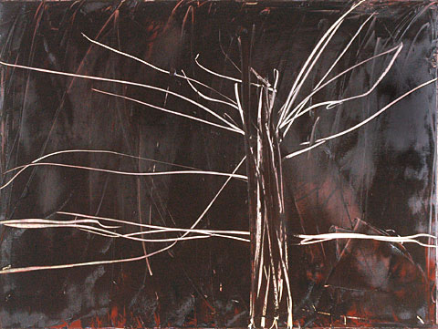 Tree, 2006, oil on canvas, 135×180 cm