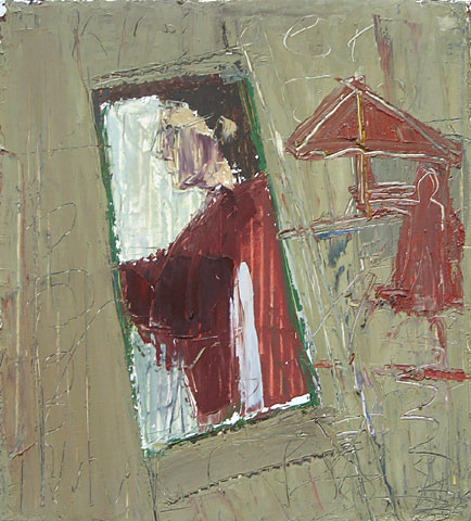 Umbrella, 2003, oil on canvas, 34×31 cm